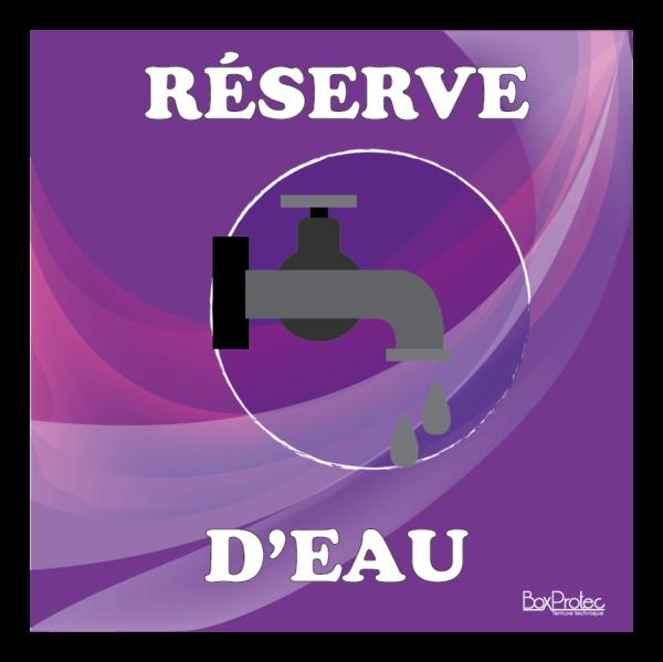 panneau réserve d'eau violet