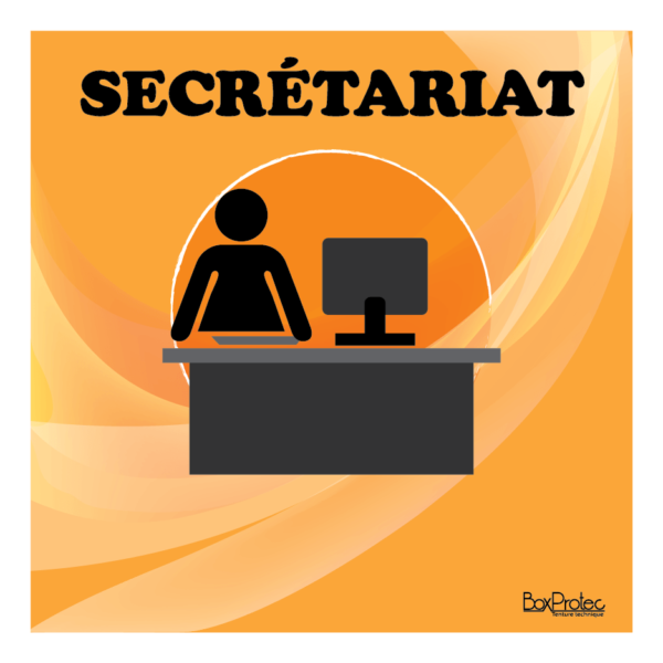 panneau secrétariat orange