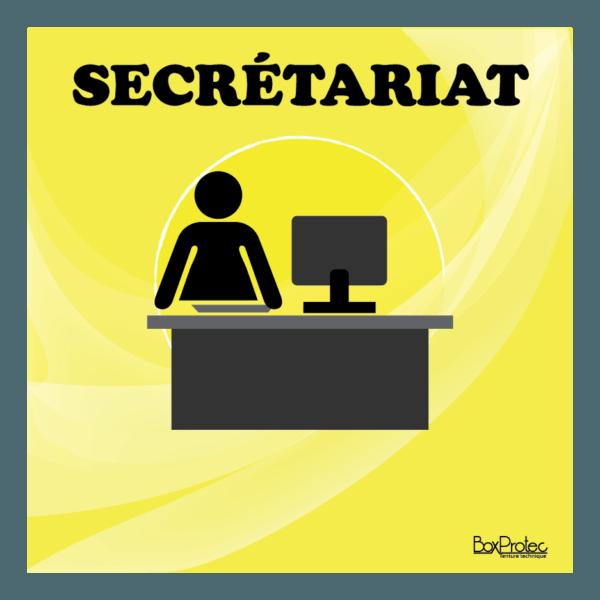 panneau secrétariat jaune