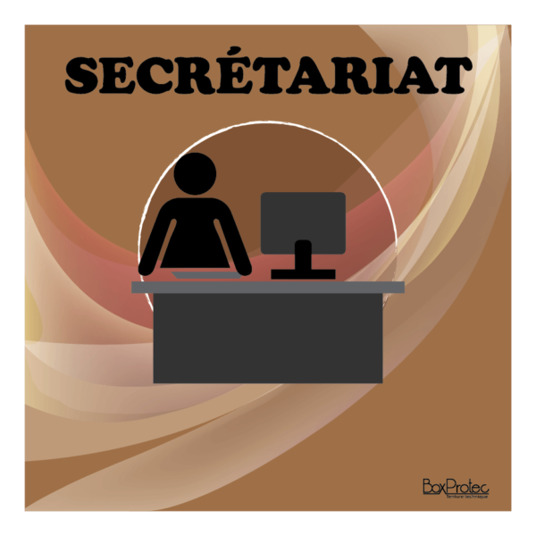 panneau secrétariat marron