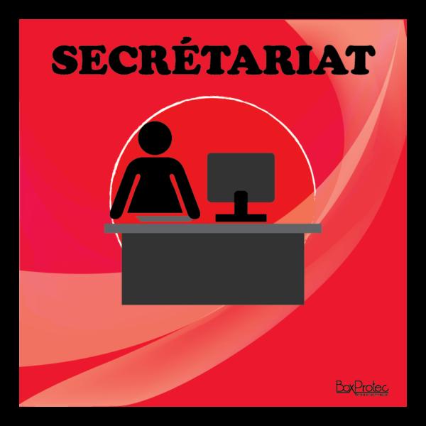 panneau secrétariat rouge