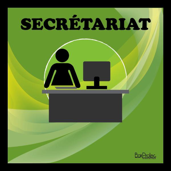 panneau secrétariat vert