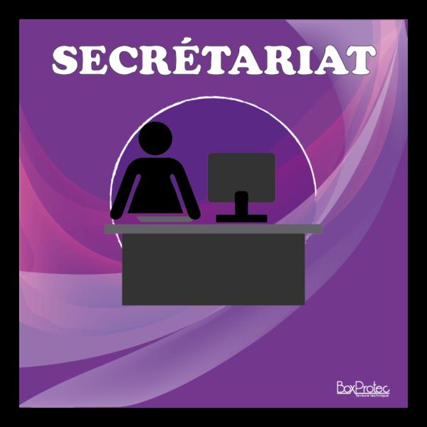 panneau secrétariat violet