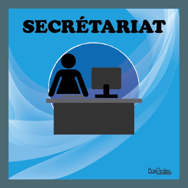 panneau secrétariat bleu