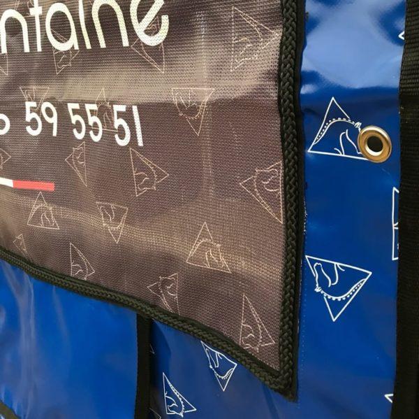 tenture de box pro1 finition galon et oeillet boxprotec