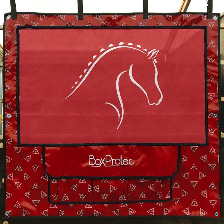 tenture de box bache rouge boxprotec