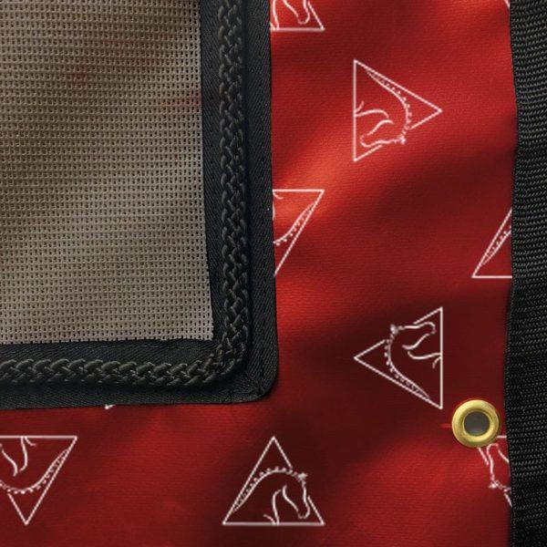 Tenture de box PRO1 Fond rouge
