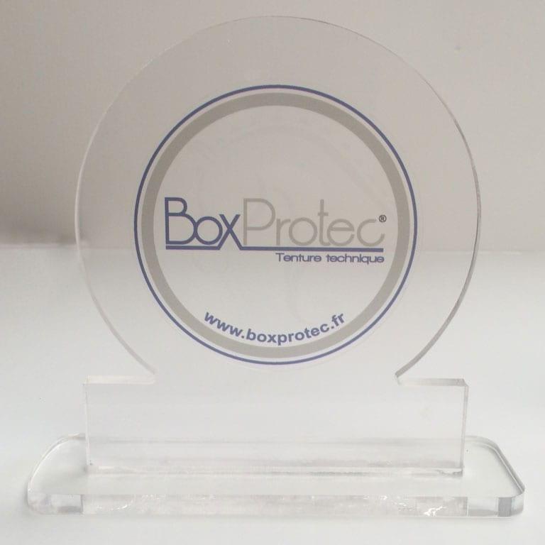 trophée en plexi Boxprotec