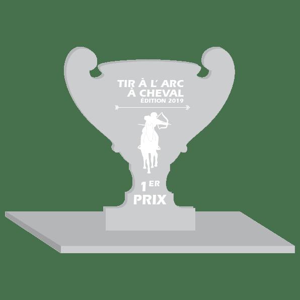 trophée en plexi pour le tir a l'arc à cheval