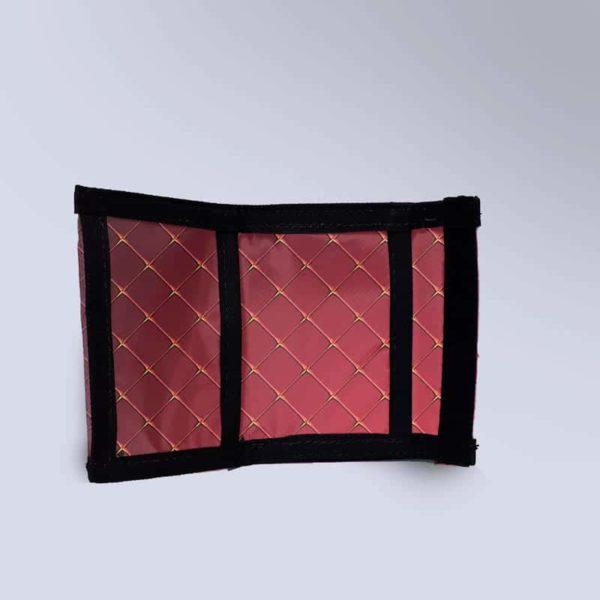 Porte monnaie rouge molletonnée