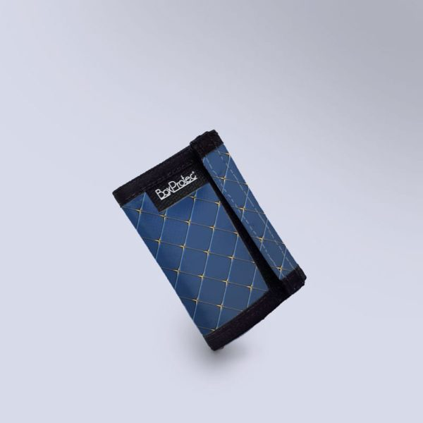 Porte monnaie bleu molletonnee