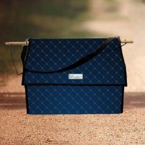 sac à bande et flanelles chevaux bleu molletonnée boxprotec