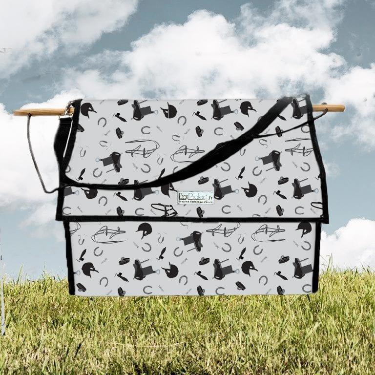 sac à bande et flanelles chevaux gris avec motif accessoires chevaux boxprotec
