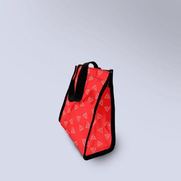 sac à main rouge avec motif chevaux Boxprotec