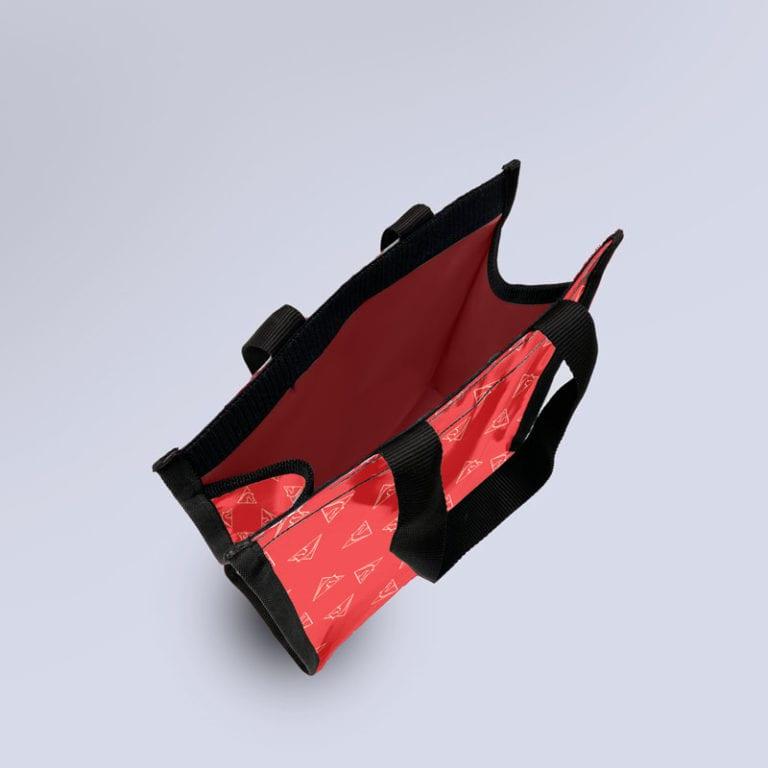 sac semi-étanche rouge avec motif Boxprotec