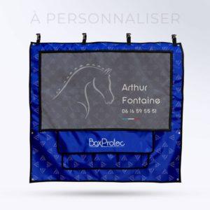tenture de box PRO1 à personnaliser en ligne toile micro aéré et pochettes