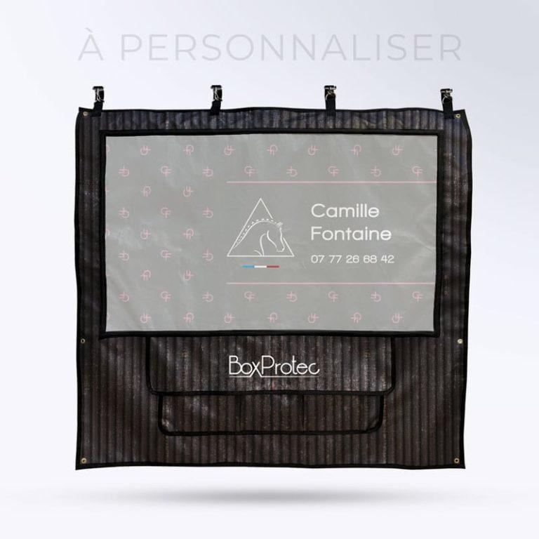 tenture de box PRO 1 à personnaliser Boxprotec couleur zébré noir camille fontaine