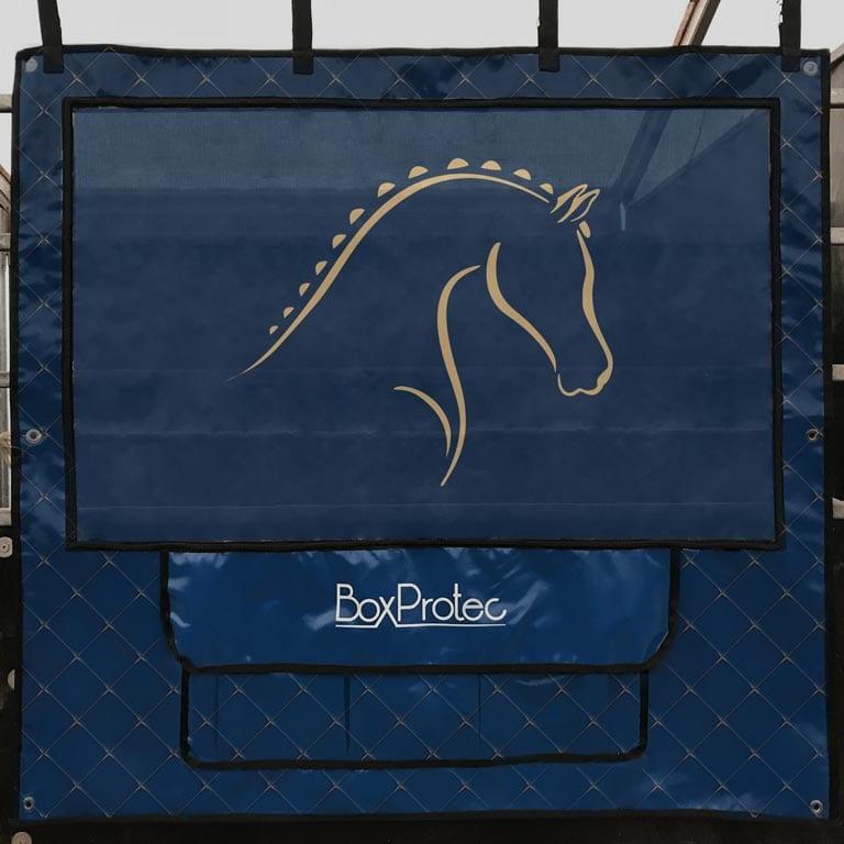 tenture de box pro 1 boxprotec bleu effet molletonne