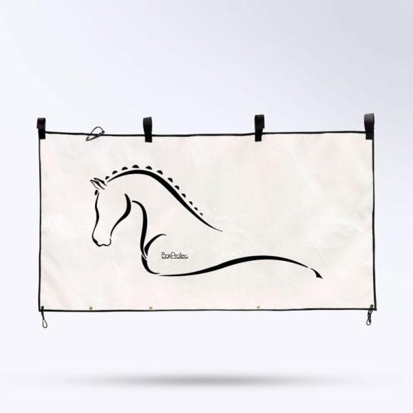 tenture de box pour chevaux blanc Boxprotec