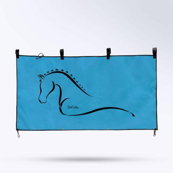 tenture de box bleu Boxprotec pour écurie