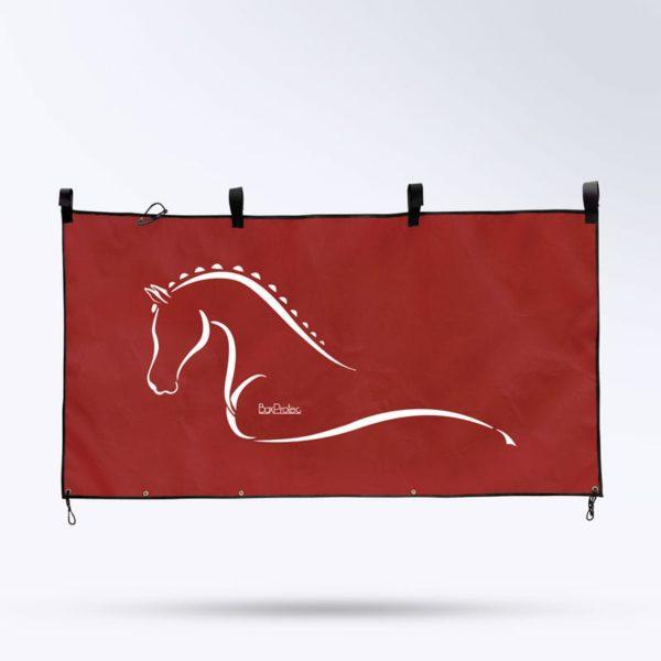tenture de box rouge fabrication française Boxprotec