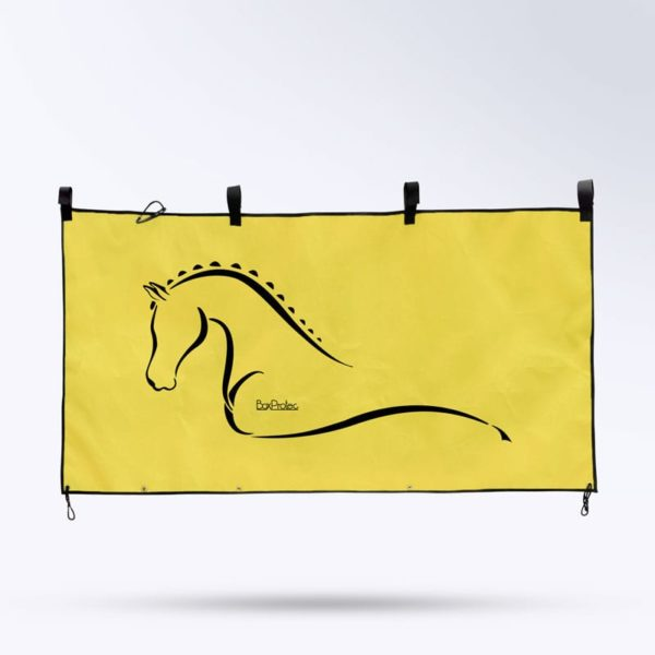 tenture de box jaune Boxprotec fabrication française