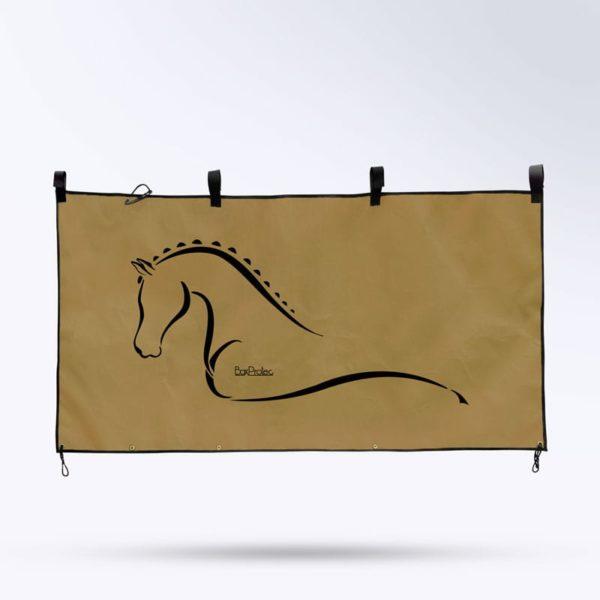 tenture de box marron Boxprotec pour écurie