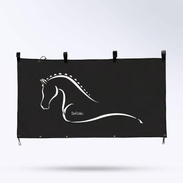 tenture de box noire pour cheval Boxprotec
