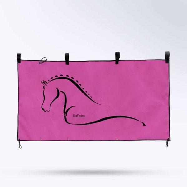 tenture de box rose Boxprotec pour écurie