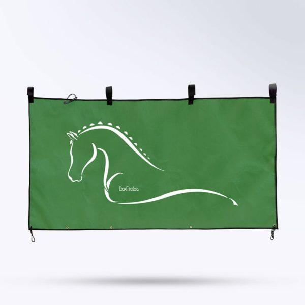tenture de box pour cheval couleur vert foncé Boxprotec