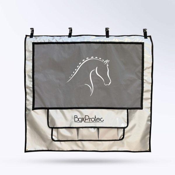 tenture de box PRO 1 Boxprotec argent toile micro-aéré et pochettes