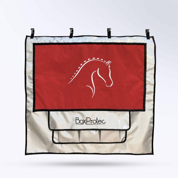 tenture de box PRO 1 Boxprotec argent et rouge