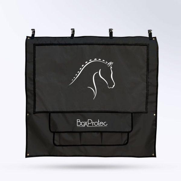 tenture de box PRO 1 Boxprotec noir avec pochettes et toile micro aéré