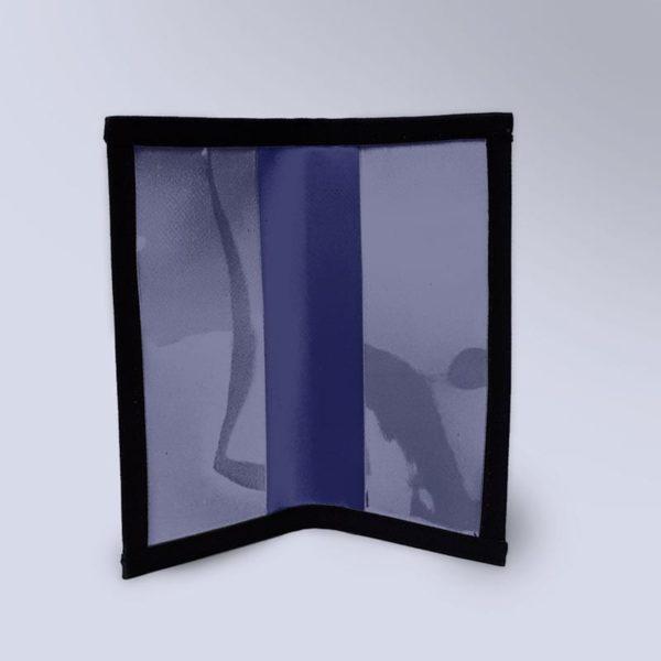 Porte chèquier Bleu