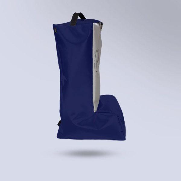 sac à bottes adulte bleu toile micro aéré blanche