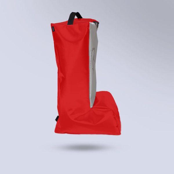 sac pour bottes rouge d'équitation micro aéré Boxprotec