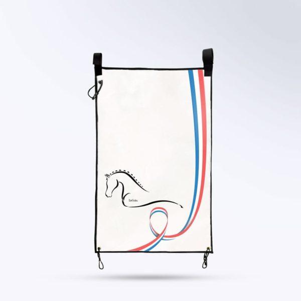 tenture de porte pour box blanc Boxprotec