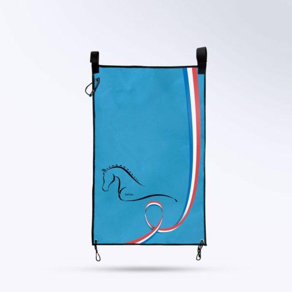 tenture de porte bleu Boxprotec fabriqué en France