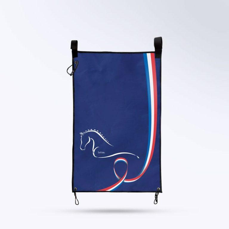 tenture de porte bleu marine pour chevaux Boxprotec