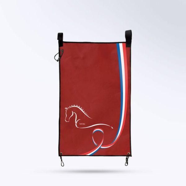 tenture de porte rouge Boxprotec fabriqué en France