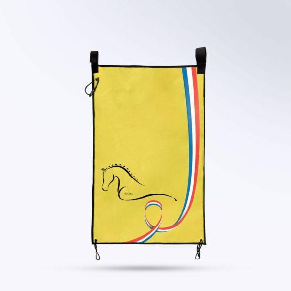 tenture de porte jaune Boxprotec fabriqué en France