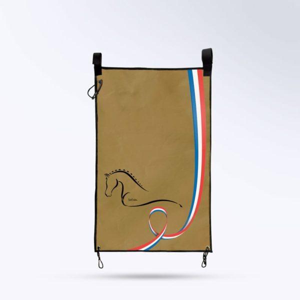 tenture de porte pour cheval couleur marron Boxprotec