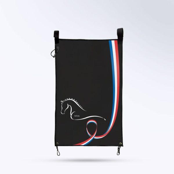 tenture de porte pour chevaux noir Boxprotec
