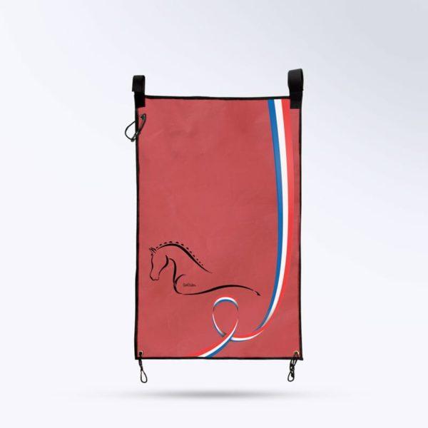 tenture de porte rouge Boxprotec fabrication française