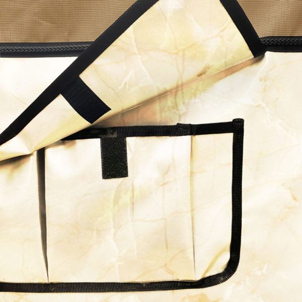 tenture de box aspect marbre Boxprotec avec pochettes de rangement