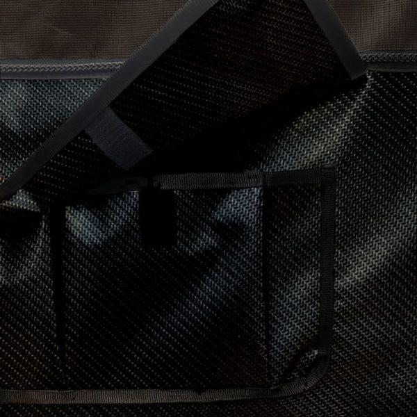 Tenture de box PRO1 Fond noir carbone