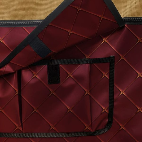 tenture de box avec rangement collection rouge anglais