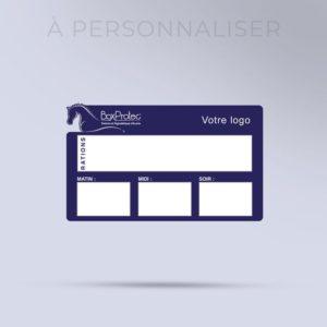 plaque de ration effaçable personnalisée avec votre logo