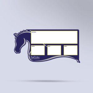 panneau de ration pour chevaux effaçable bleu Boxprotec