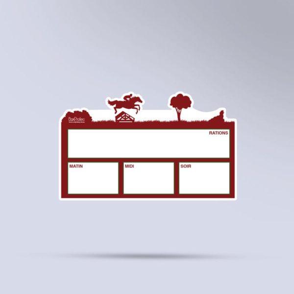 plaque de ration effaçable boxprotec CCE rouge